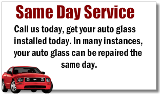 Same Day Auto Glass Replacement Service